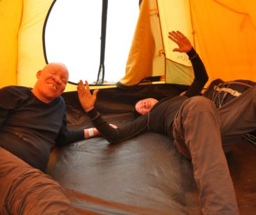 Day 2 in the tent Josephat and Veda